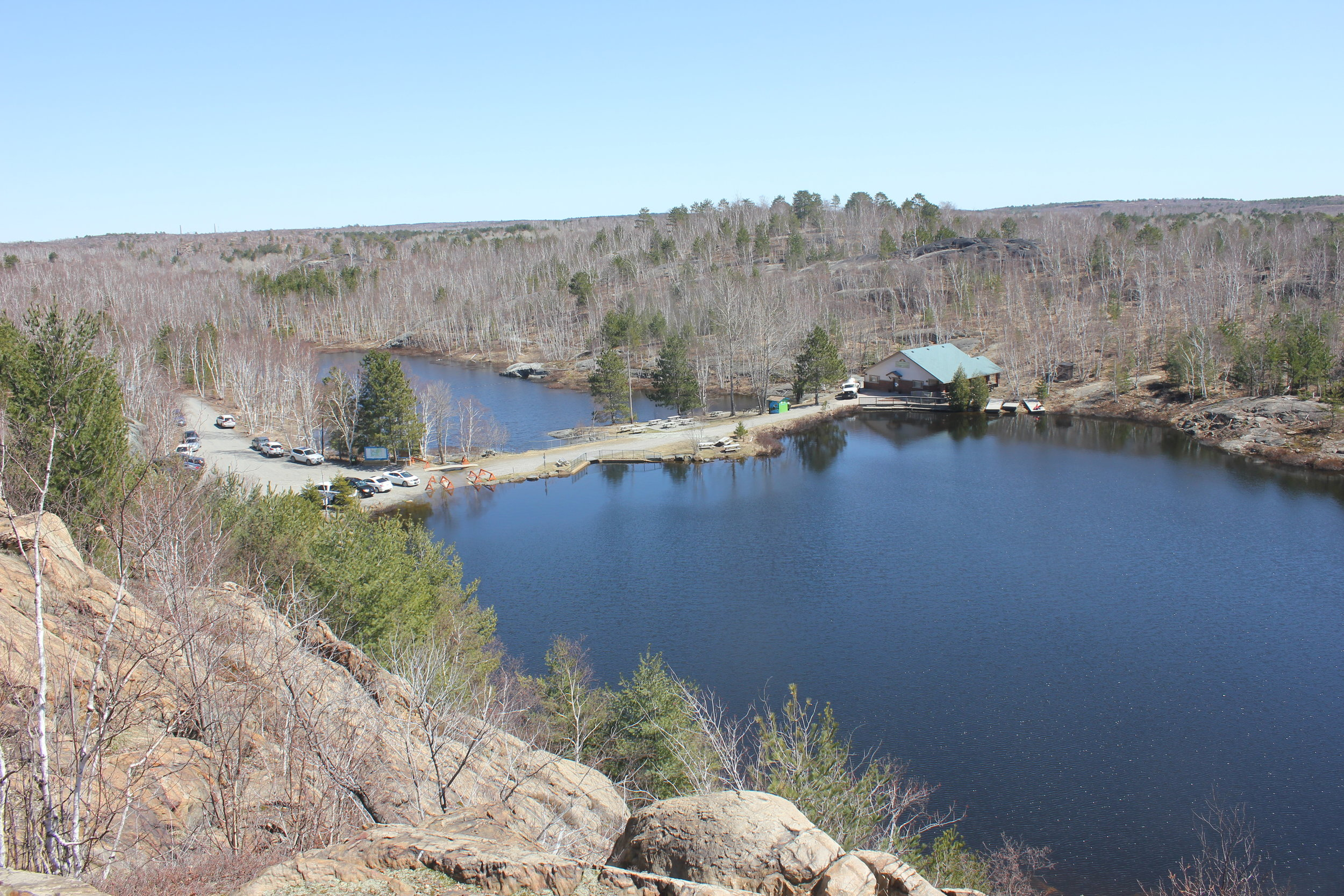A bird's-eye view of the Lake Laurentian Conservation Area