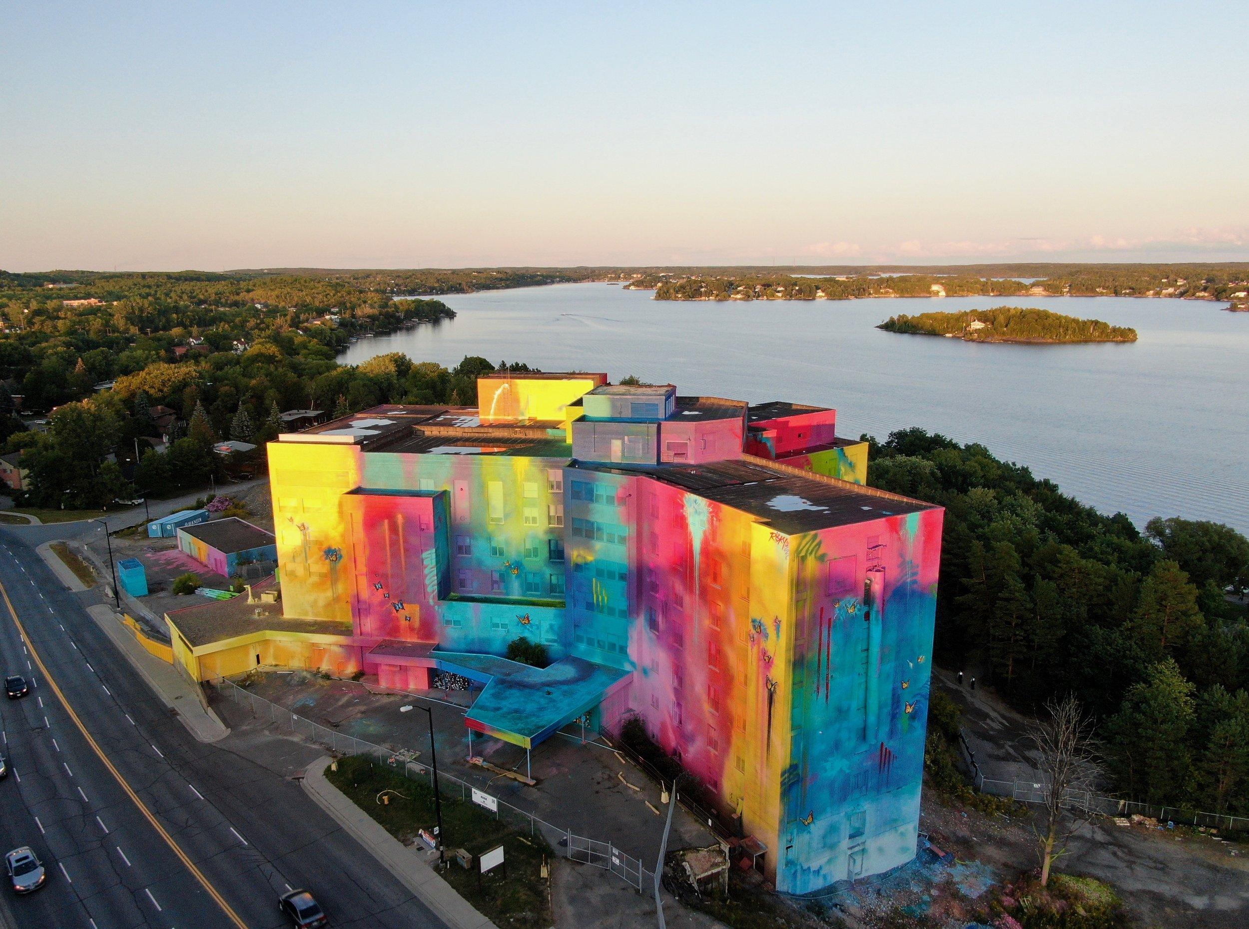 RISK mural in Sudbury, Canada. Photo by  Incapture