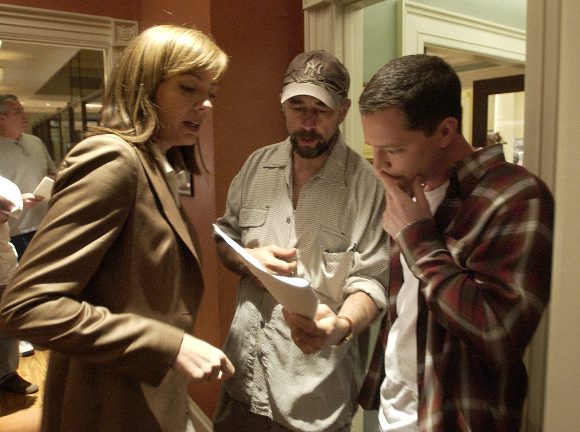 """A staged shot for an article about Richard Schiff directing """"Talking Points"""""""