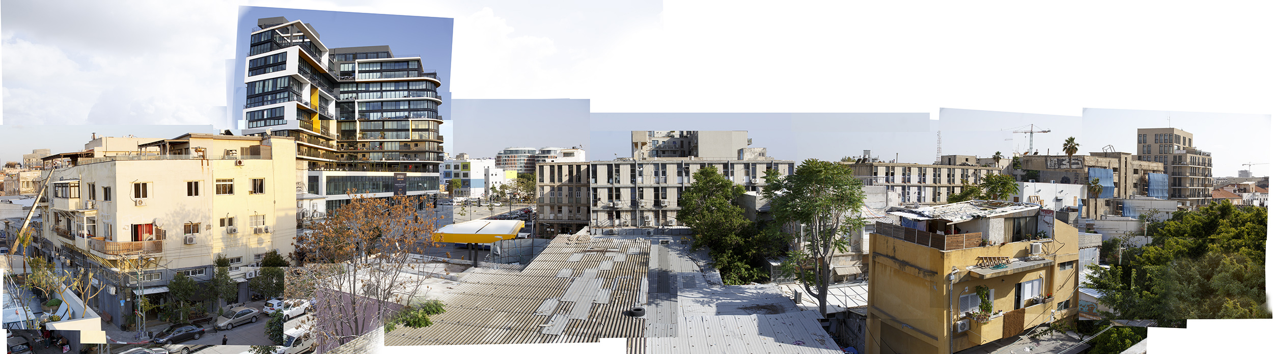 Eilat st., 2017, photo-collage, inkjet print, 110x400 cm
