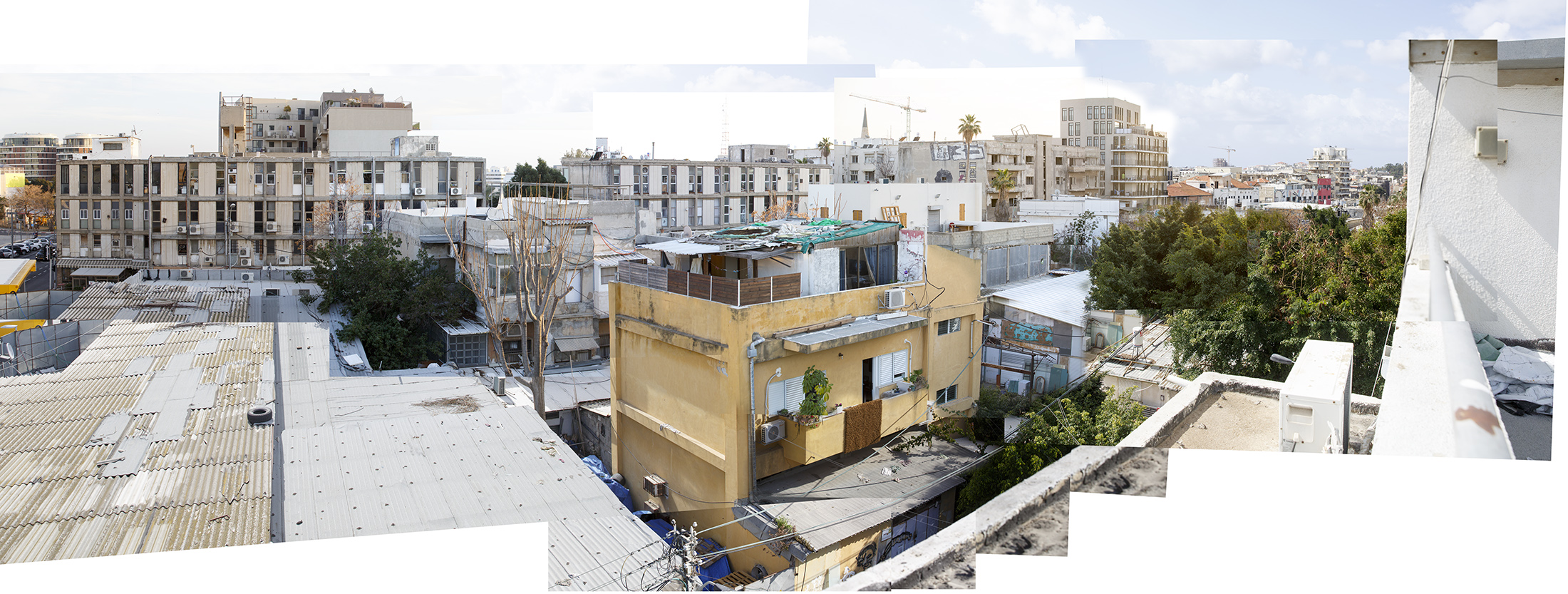 Eilat st., 2017, photo-collage, inkjet print, 95x250 cm