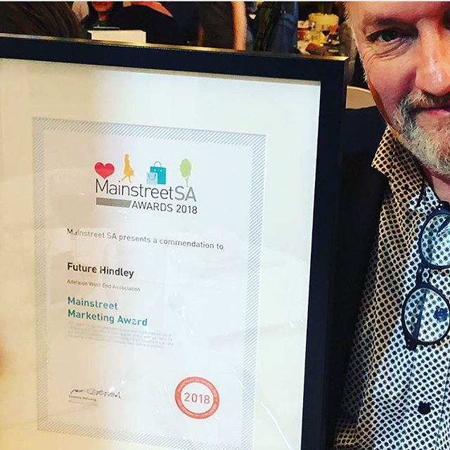 Fantastic to see our collaboration with the @adelaidewestend take home a Commendation at the Mainstreet SA @lovemymainstreet awards for FutureHindley #adelaidesbloomingrubikscube #adelaide @cityofadelaide #blooming #westend #hindley #hindleystreet