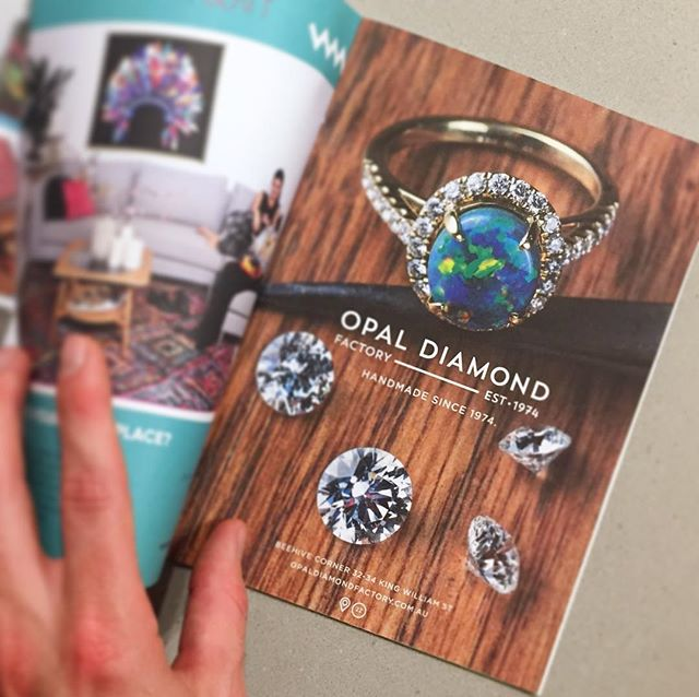 A brand interpretation for @opaldiamondfactory and brought to life by @shanereidphotos in @citybrief #handmade #citybrief #opals #diamonds #diamondring #opal #opalring #engagementring #adelaide #bespoke #custom #customjewelry #customjewellery