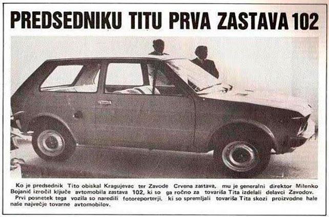 """Ukupno je ručno napravljeno 14 prototipova """"Zastave 102"""", od kojih je svaki bio namenjan različitim ispitivanjima. Ručno napravljena """"Zastava 102"""", zelene boje, poklonjena je predsedniku SFRJ, Josipu Brozu Titu, prilikom njegove posete Kragujevcu.  U javnoj anketi održanoj krajem 1979. godine, između 3.000 predloga, pobedio je naziv """"yugo"""". Prvi serijski """"yugo 45"""" sišao je sa pokretne trake 28. novembra 1980. godine.  N Sajmu automobila u Beogradu 1981. proglašen za automobil godine. Od tada pa sve do kraja proizvodnje, 2008. godine, proizvedeno je ukupno 794.428 """"jugića""""."""