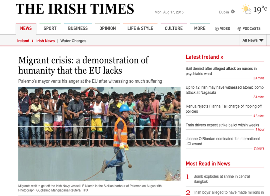 The Irish Times — August 17, 2015