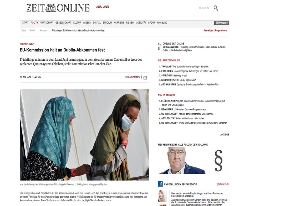 Zeit —May 11, 2015
