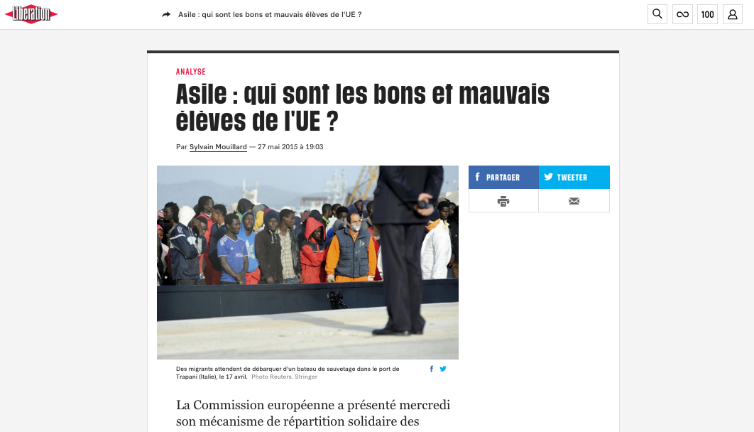 Libération — May 27, 2015
