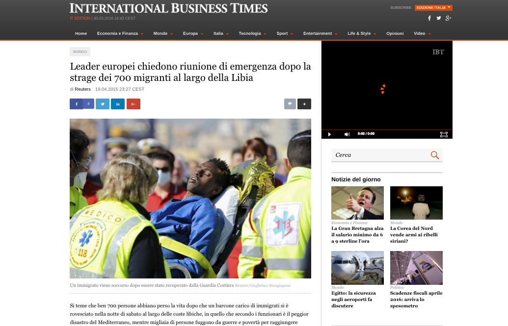 International Business Times — April 19, 2015