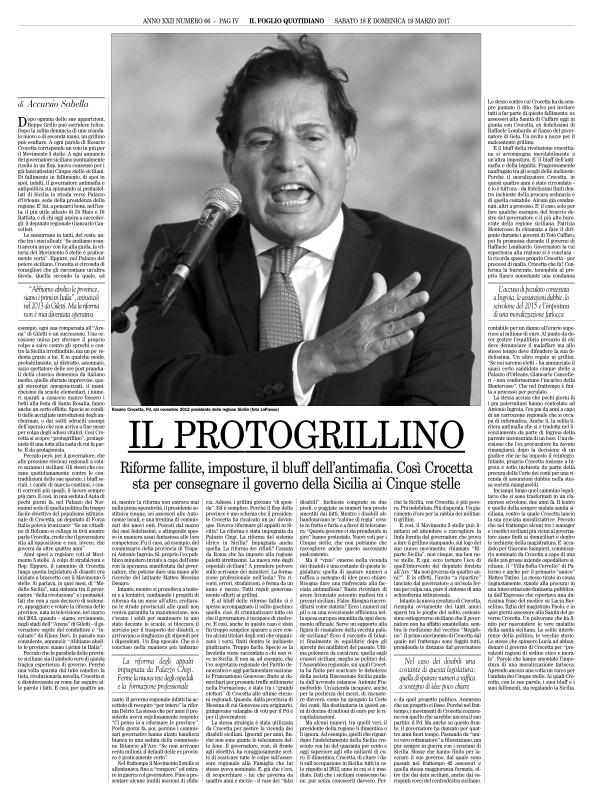 Il Foglio — March 18,2017