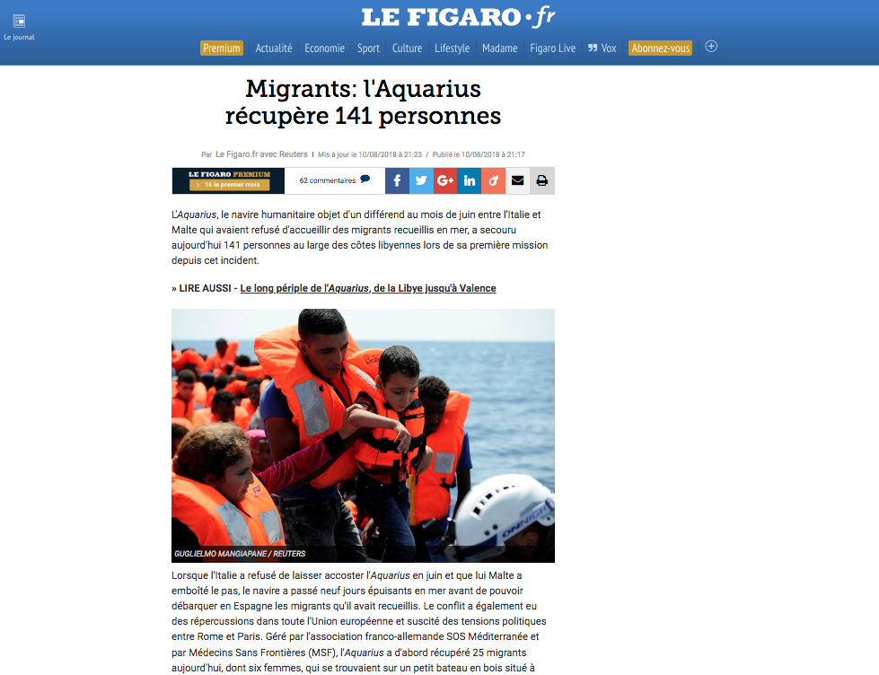 Le Figaro — August 10, 2018