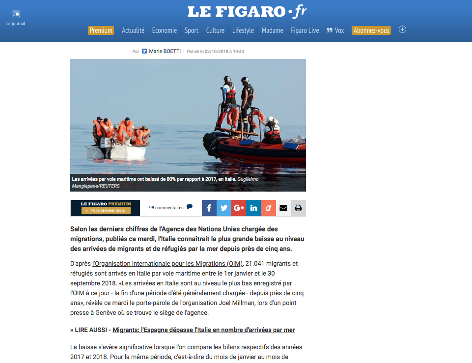 Le Figaro — October 2, 2018