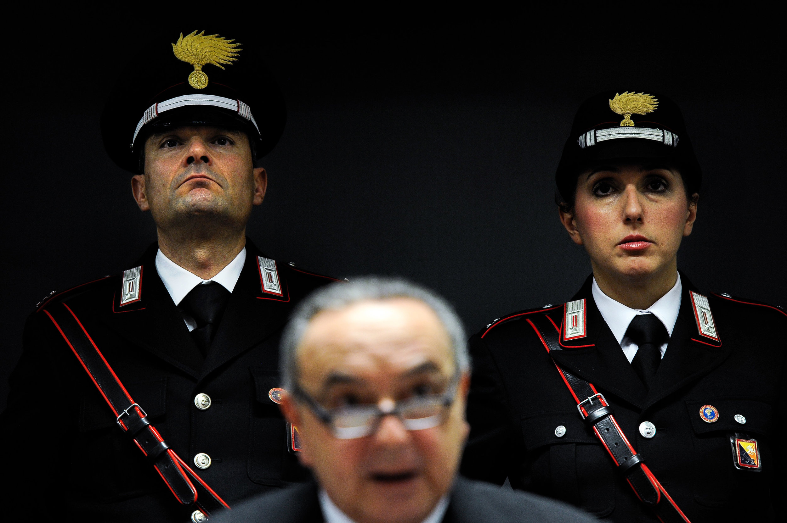 Palermo Chief Prosecutor Francesco Lo Voi speaks during a news conference in Palermo, Italy, December 4, 2018.