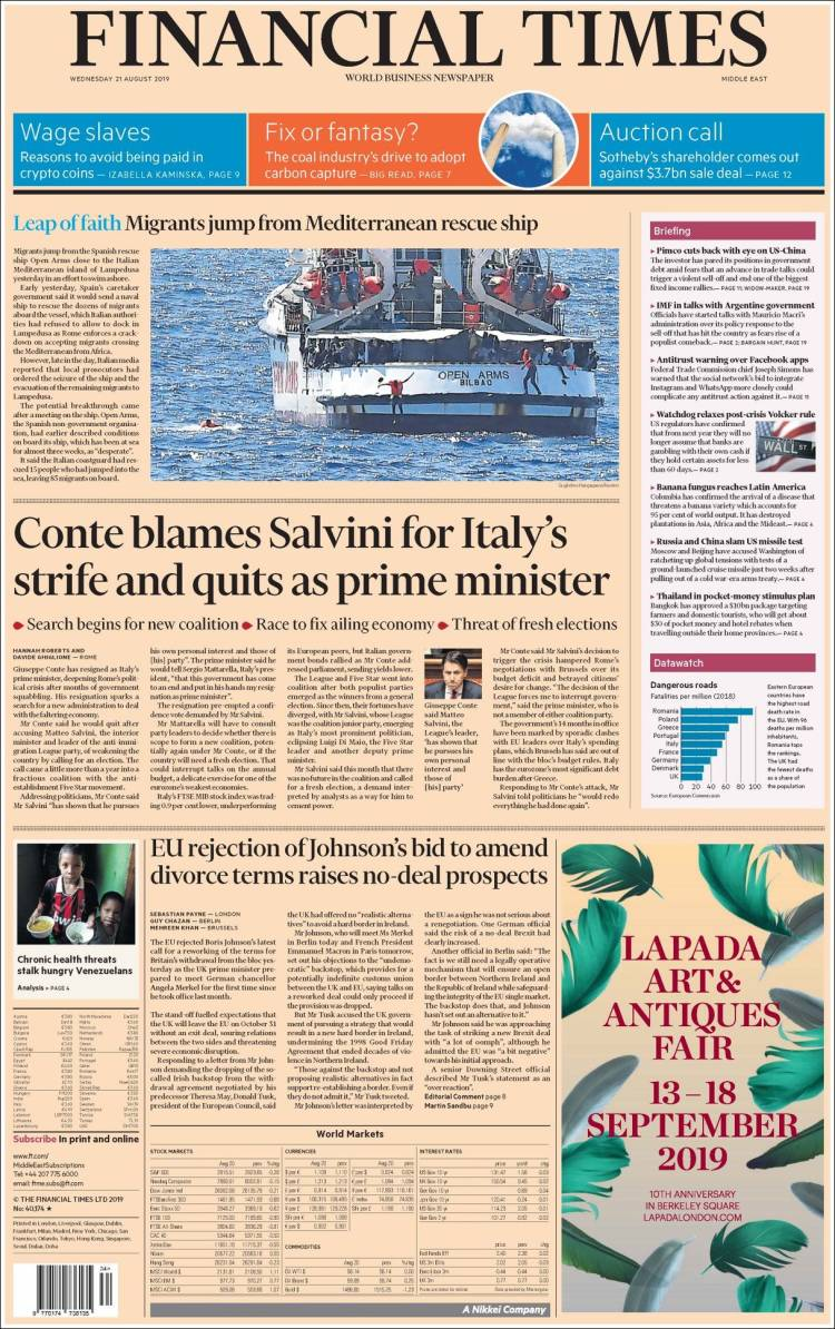 Financial Times — August 21, 2019