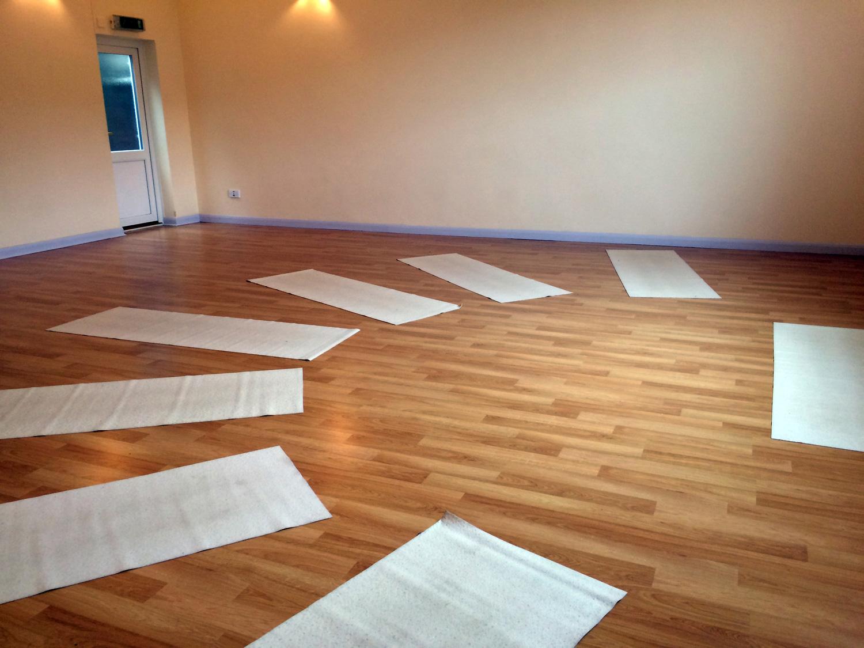 Inside Bristol Yoga Space studio
