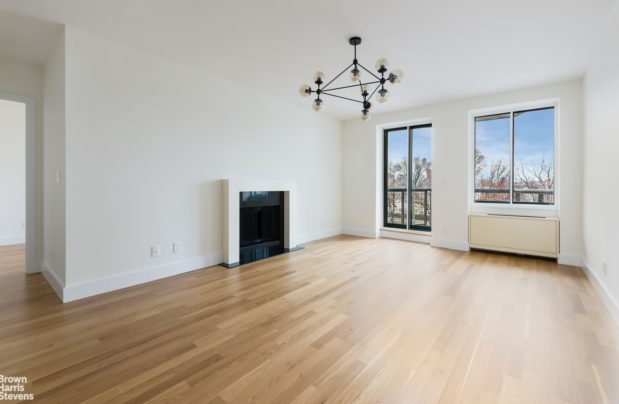 A one-bedroom at 167 Perry St. as it actually exists, above.