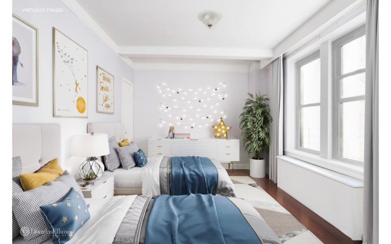 Festival virtual furnishings enliven this Upper East Side offering.