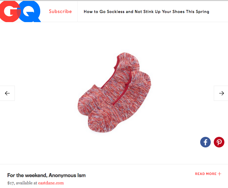 AnonymousIsm socks in GQ online
