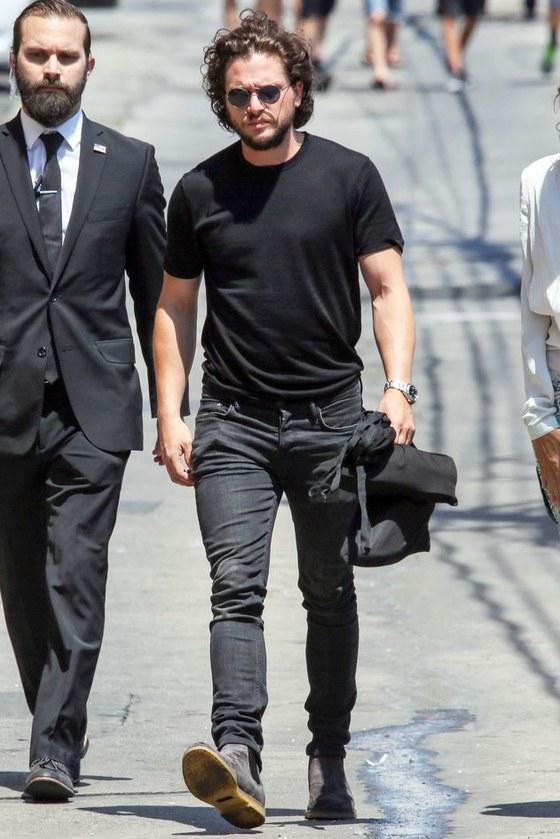 Kit Harrington in GQ wearing Velva Sheen