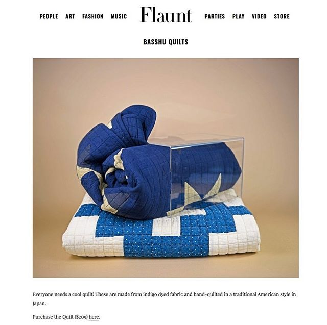 Posted this on the personal account but we do love the styling on our fav. @basshu_japan Blankets by @flauntmagazine