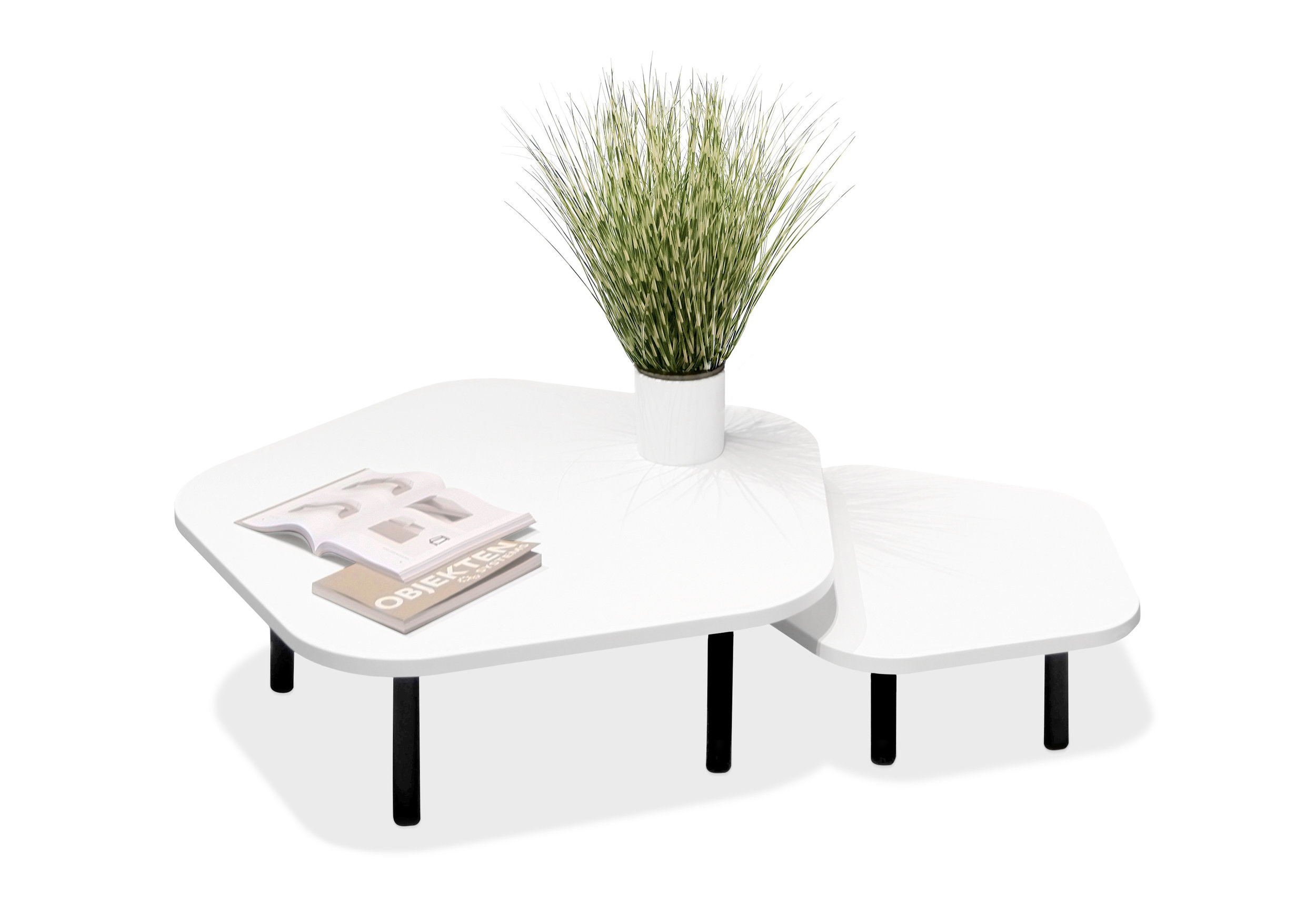 OBJEKTEN_Coffee_Table_Pentagon_White_Melamine copie.jpg