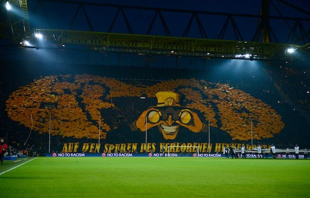 "Dortmund's ""Yellow Wall"" is world famous for their displays of support"