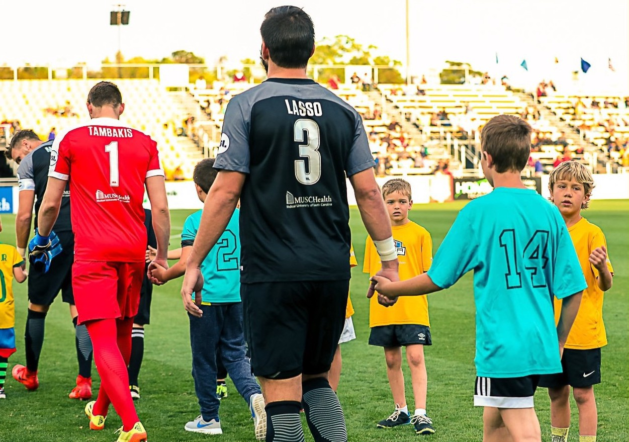 Pictured Above: Forrest Lasso's height compared to the average attacker in USL