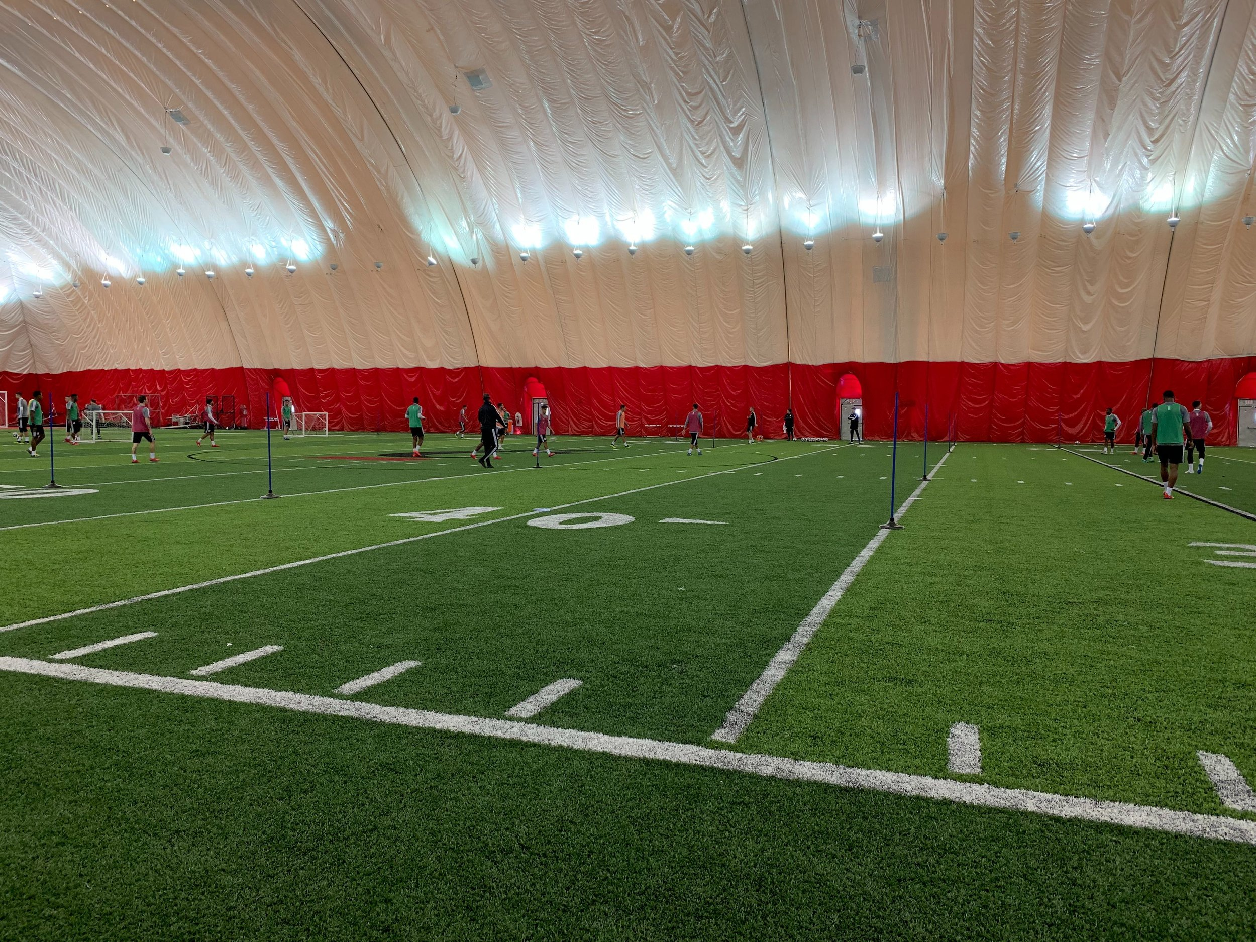 Photo Credit: Olivia Thompson at FCC's first MLS practice.