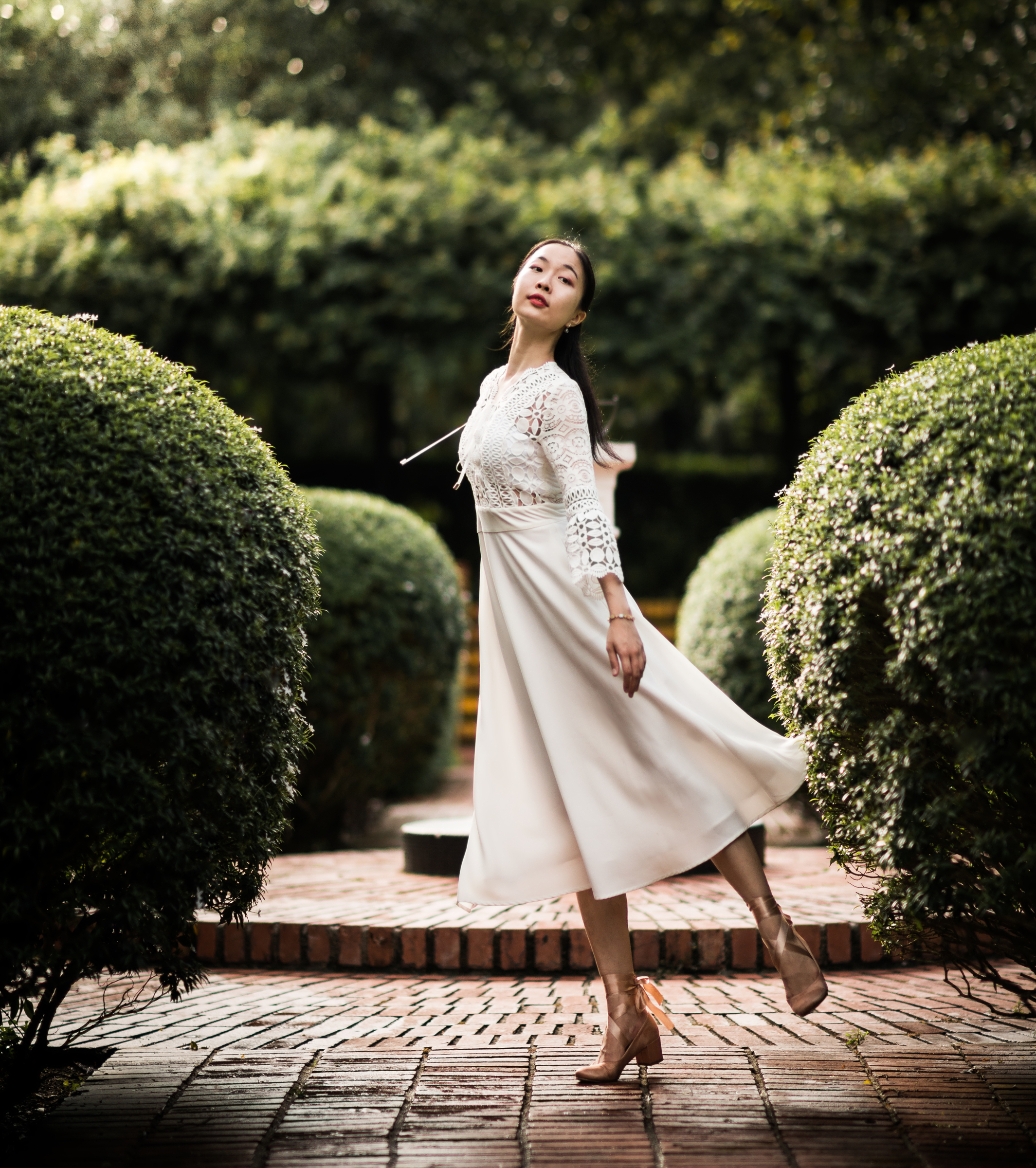 Zikki Lin in the garden