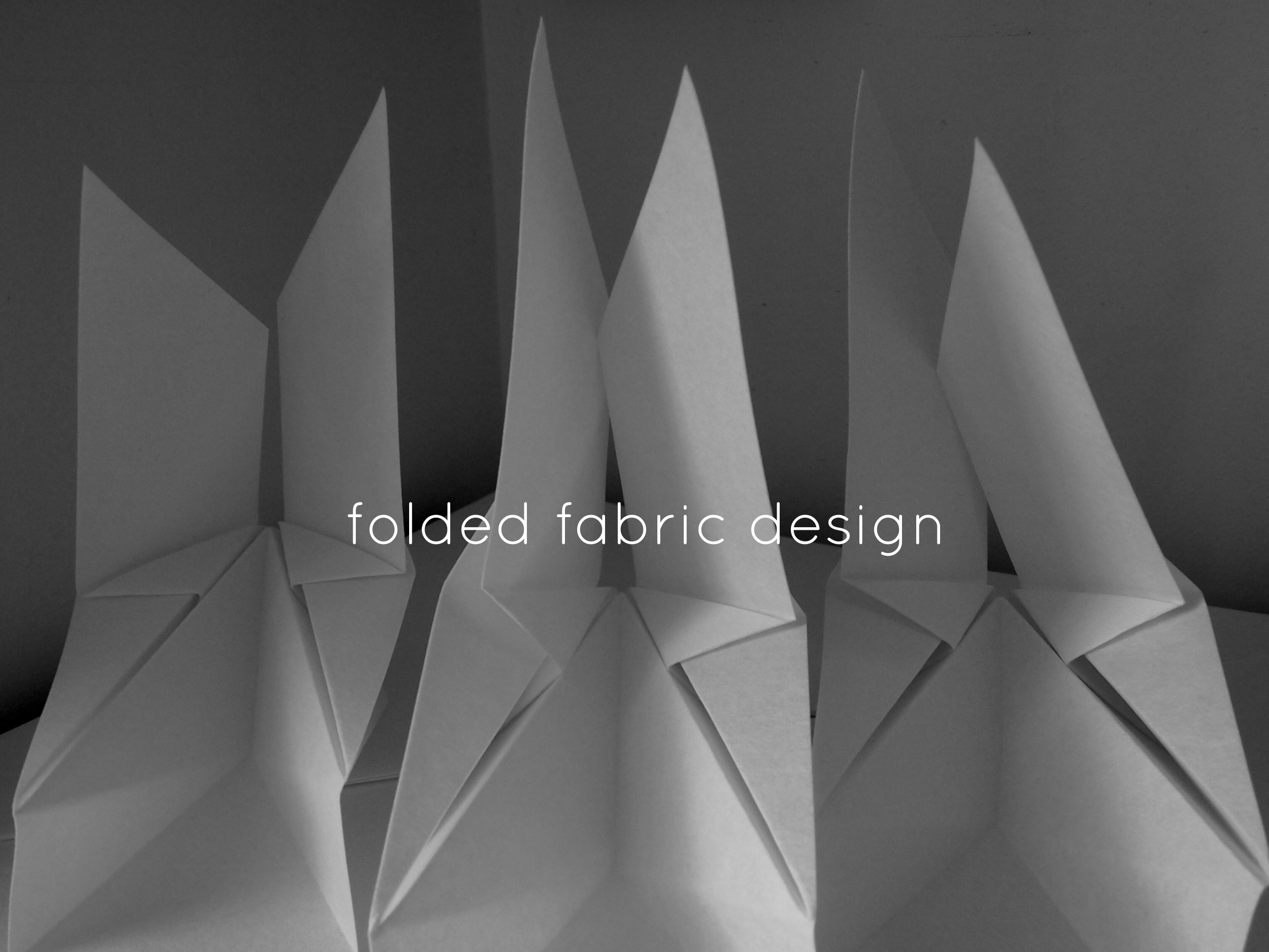 textile origami folded fabric design