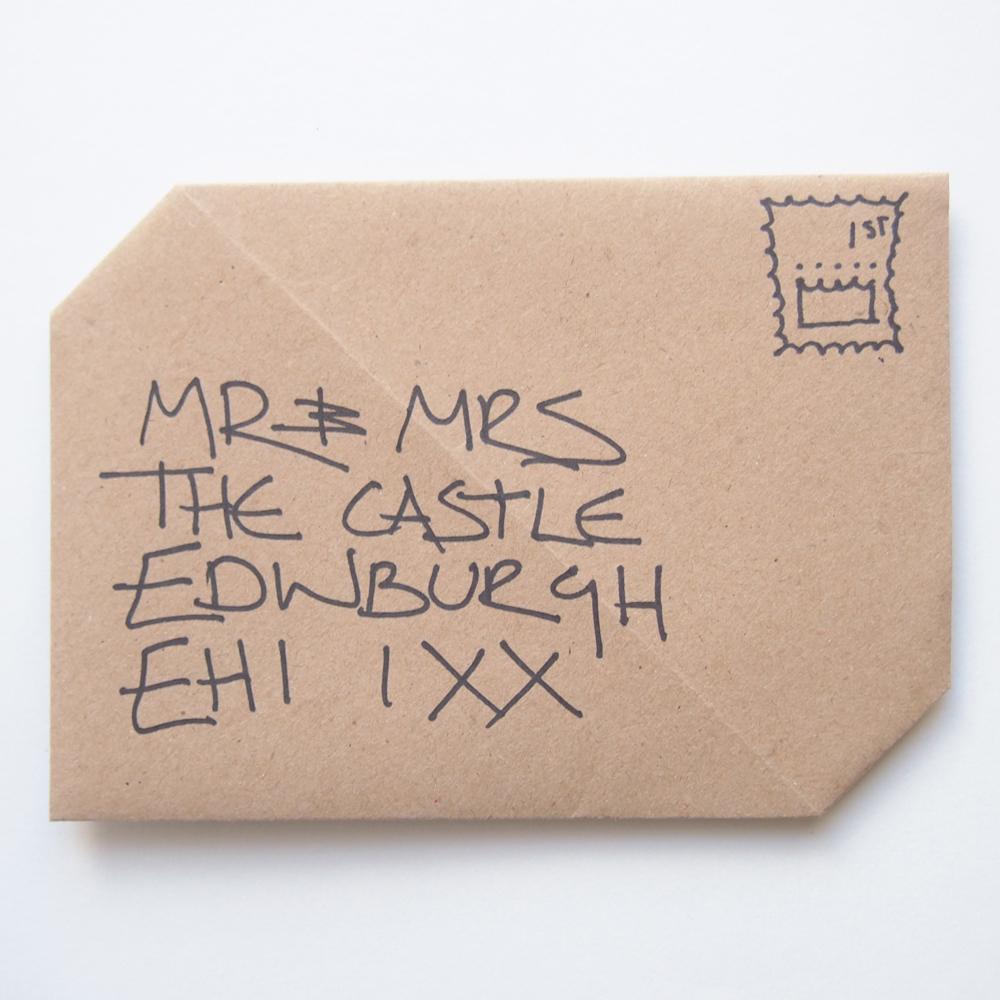 Origami envelope wedding stationery invitation