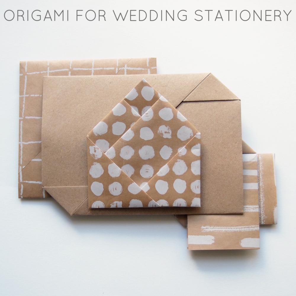 Origami for wedding stationery