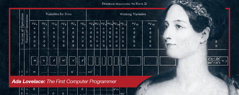 Image:  Ada Lovelace: The First Computer Programmer