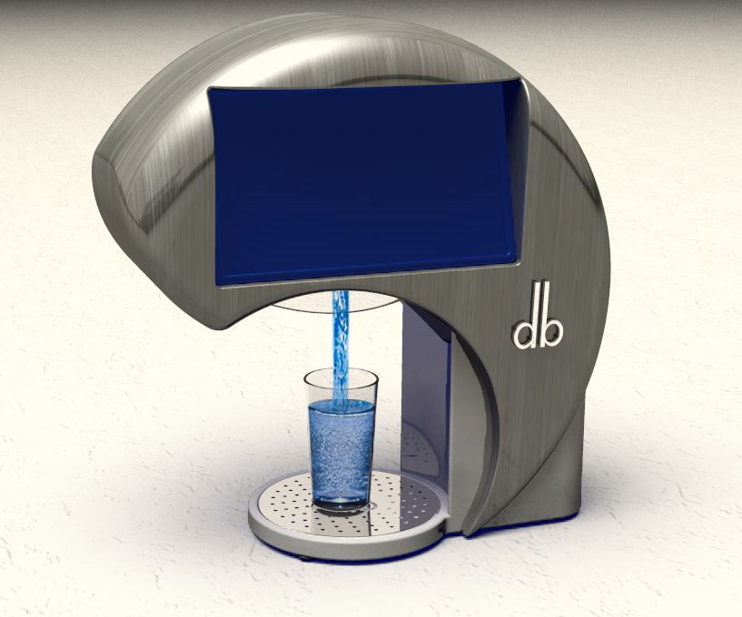 Beverage Machine: ID, logo design and logo treatment on product