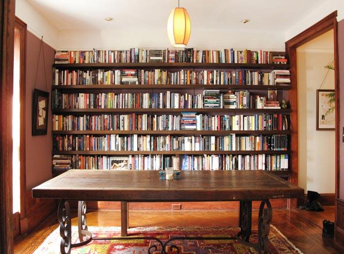 "Rustic ""floating"" bookshelves"