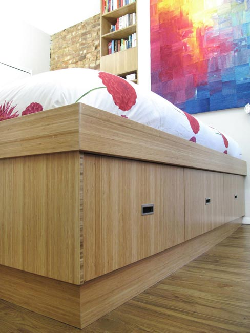 Bamboo bed with exposed edging