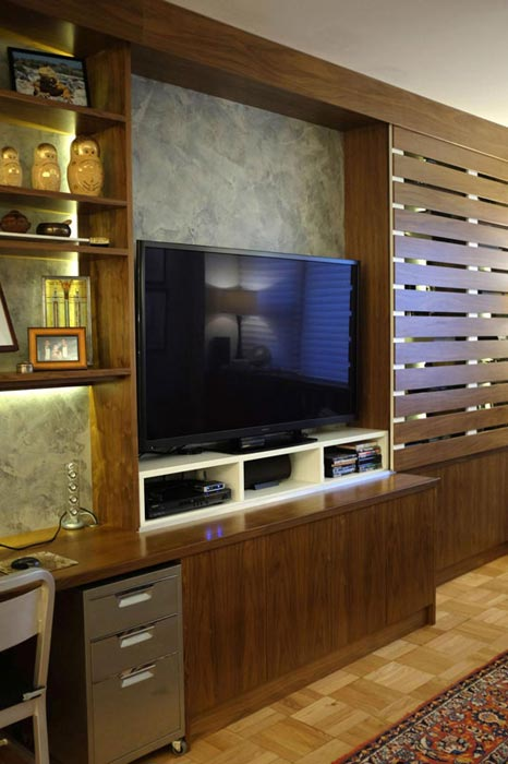 Custom home office panel