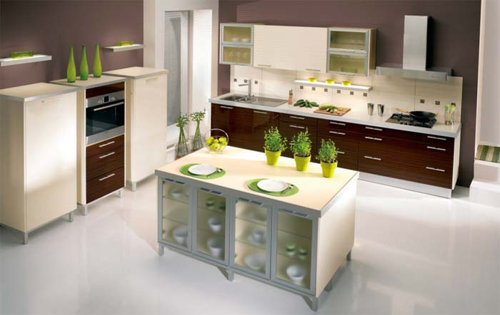 Frosted glass panels- SVEA Kitchens
