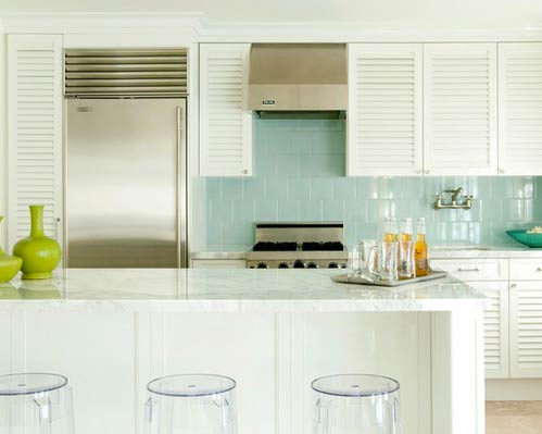 Louvered cabinet doors- Photo by Old Hollywood
