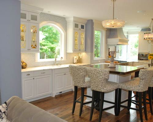 Mullions for glass cabinets- Photo by Woodworks Inc