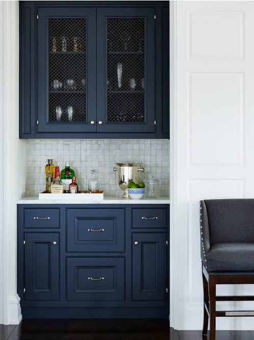 Wire mesh cabinets- Photo by Andrew Howard Interior Design