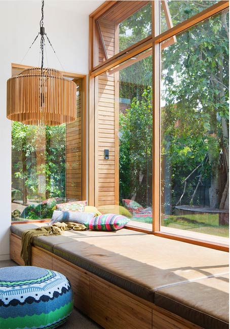 Huge window bench with storage- Photo by bg architecture