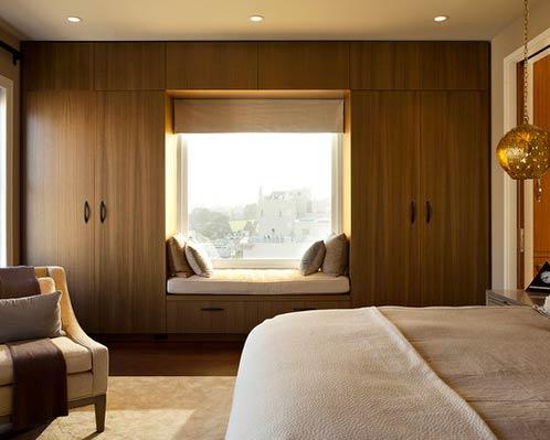 Wardrobe and window seat-Photo by Matarozzi Pelsinger Builders