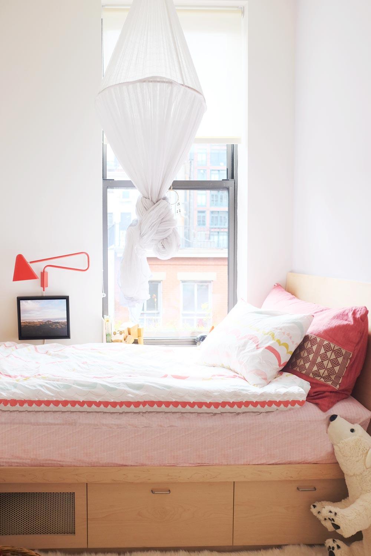 Custom wooden bed