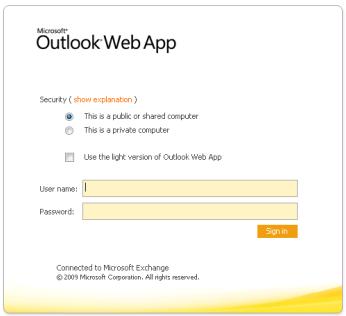 FIgure 1 - An interwebz OWA Portal