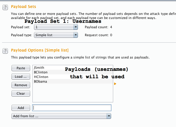 Figure 7 - Payload Sets