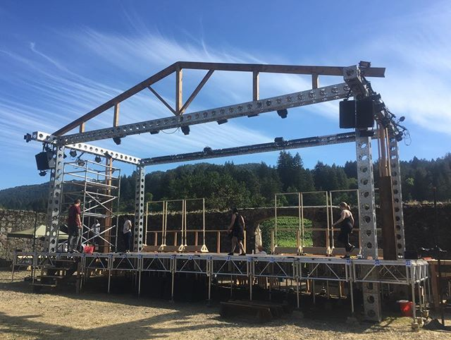 Our amazing set for A Chorus Line is almost done!  We are soooo proud of our #techteam for putting this larger than life set together. After over 80hours of labor in the #Sonoma sun 🌞,this team deserves a day off before putting the finishing touches on our beautiful stage.  @onstagegal and her fabulous team are incredible. @ttcsonoma you've got some stars behind the stage. So thankful for you all.  Photo 2&3 Cred: @ericmann_unreel  #workinprogress  #bestsetever  #achorusline