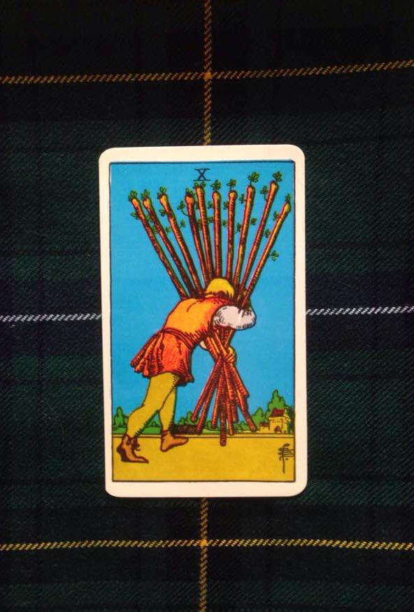 This card is from the Rider-Waite deck, originally published in 1910.