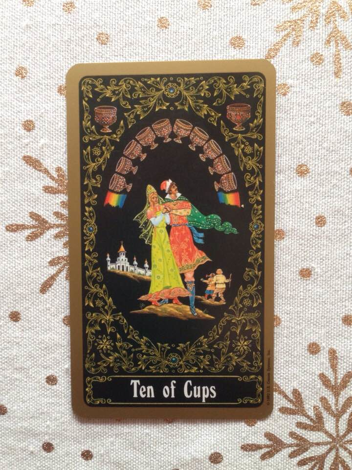 This card is from the Russian Tarot of St. Petersburg, by Yury Shakov (completed by an unknown artist after Shakov's death in 1989), published 1992.