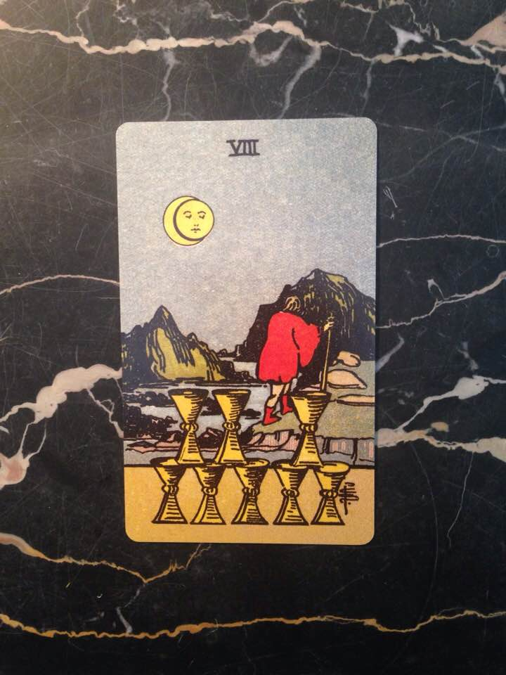 This card is from the Borderless edition of the Rider-Waite deck (1909), published in 2017.