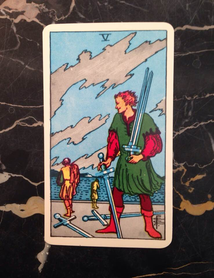 This card is from the Rider-Waite deck, published in 1910.